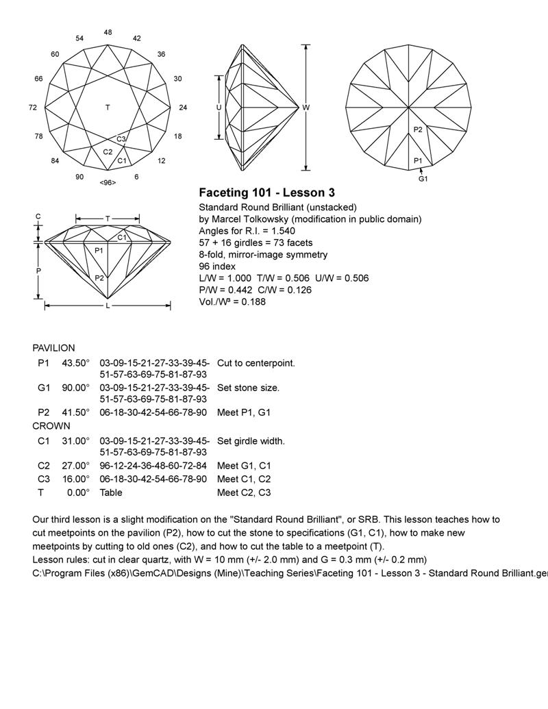 design search the gemology project : faceting diagrams - findchart.co