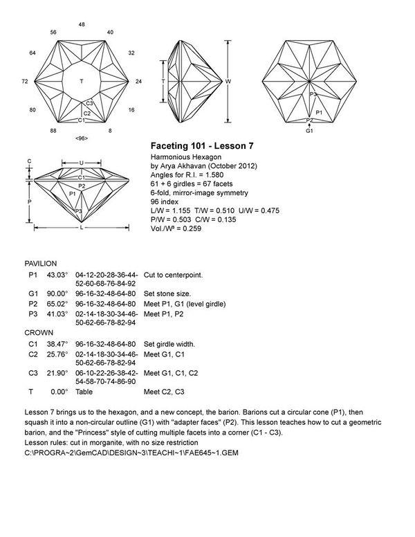 Akhavan - Faceting 101  Lesson 7